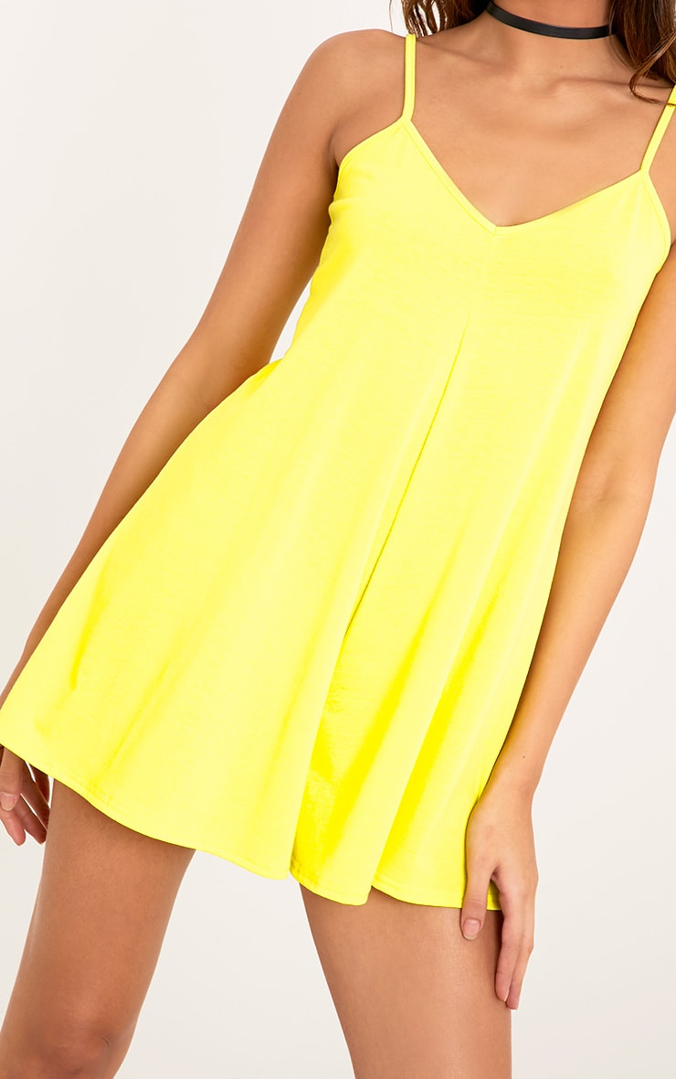 Alina Lemon Swing Playsuit 5