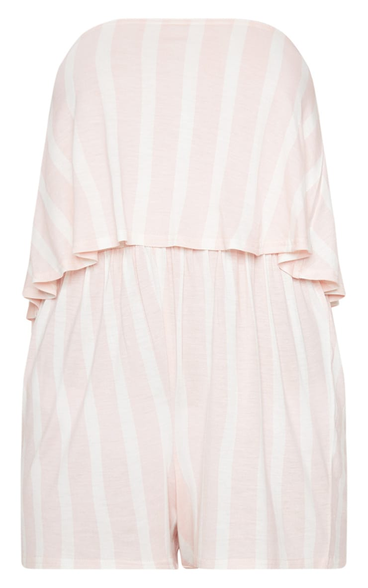 Pink Striped Bandeau Layered Playsuit 3