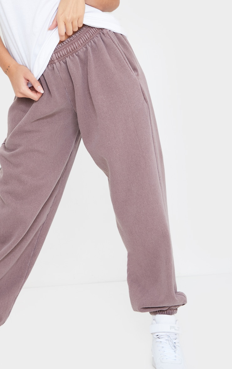 Mauve Washed Casual Joggers 4