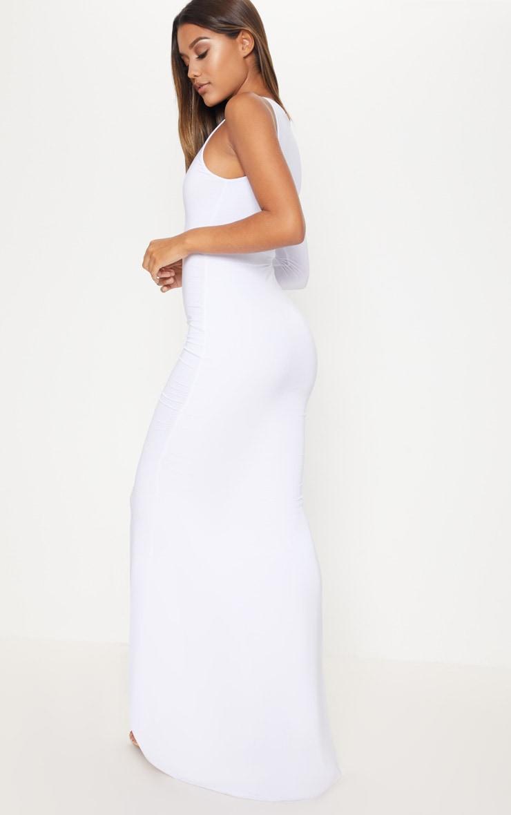 White Wrap Sleeve Maxi Dress 2