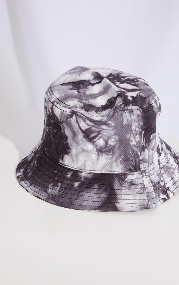 Grey Tie Dye Bucket Hat 2