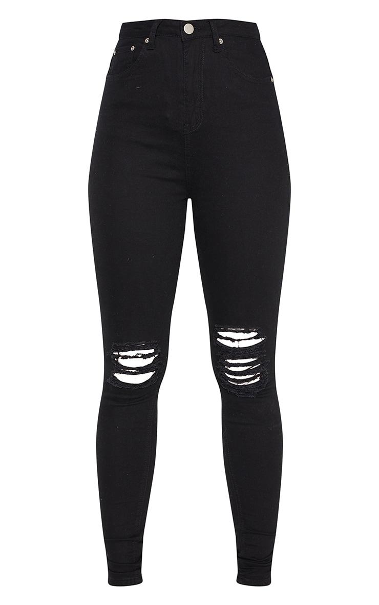 Tall - Jean skinny noir 5 poches déchiré aux genoux 3