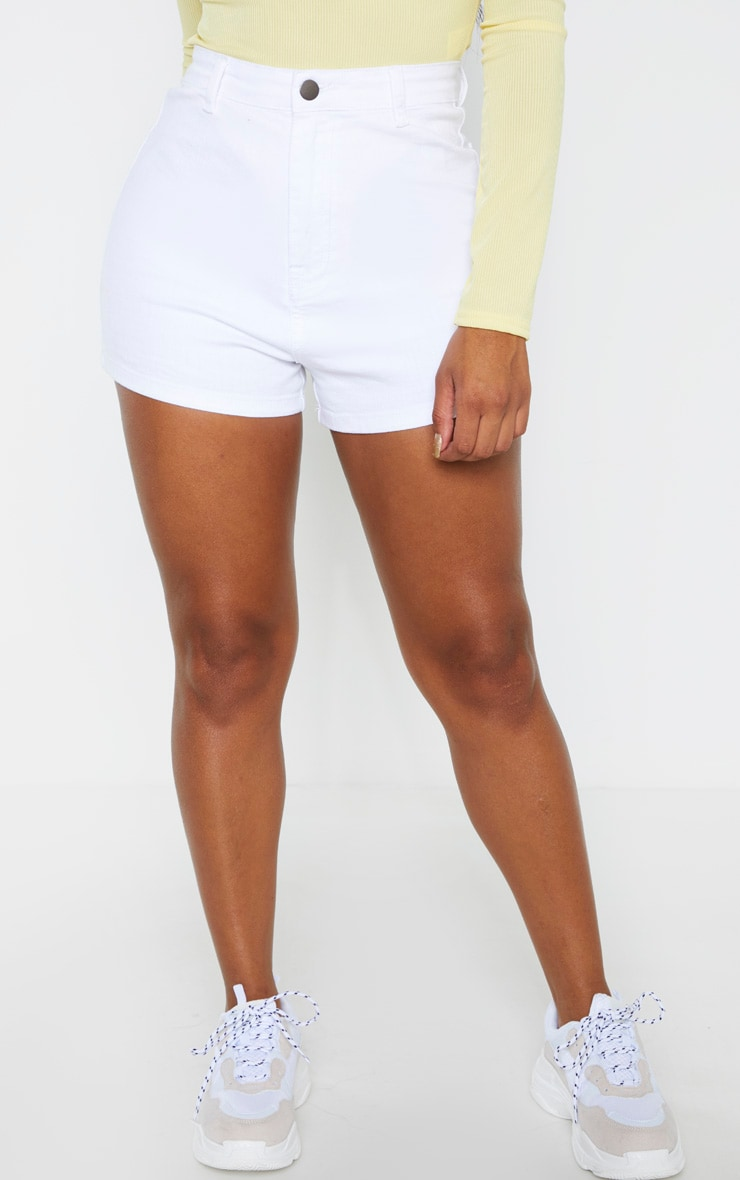 Shape White Disco Shorts 2