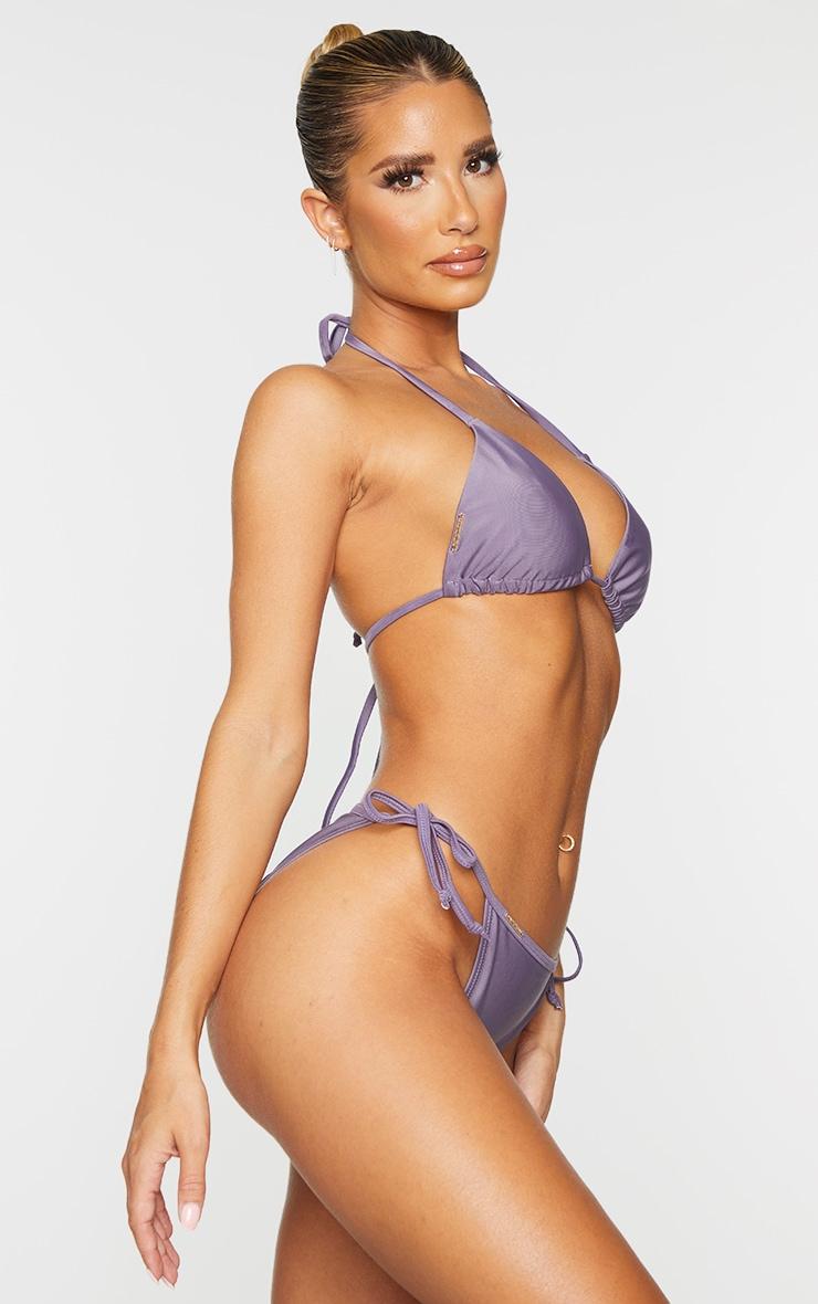 Aubergine Mix & Match Tie Side Bikini Bottoms 2