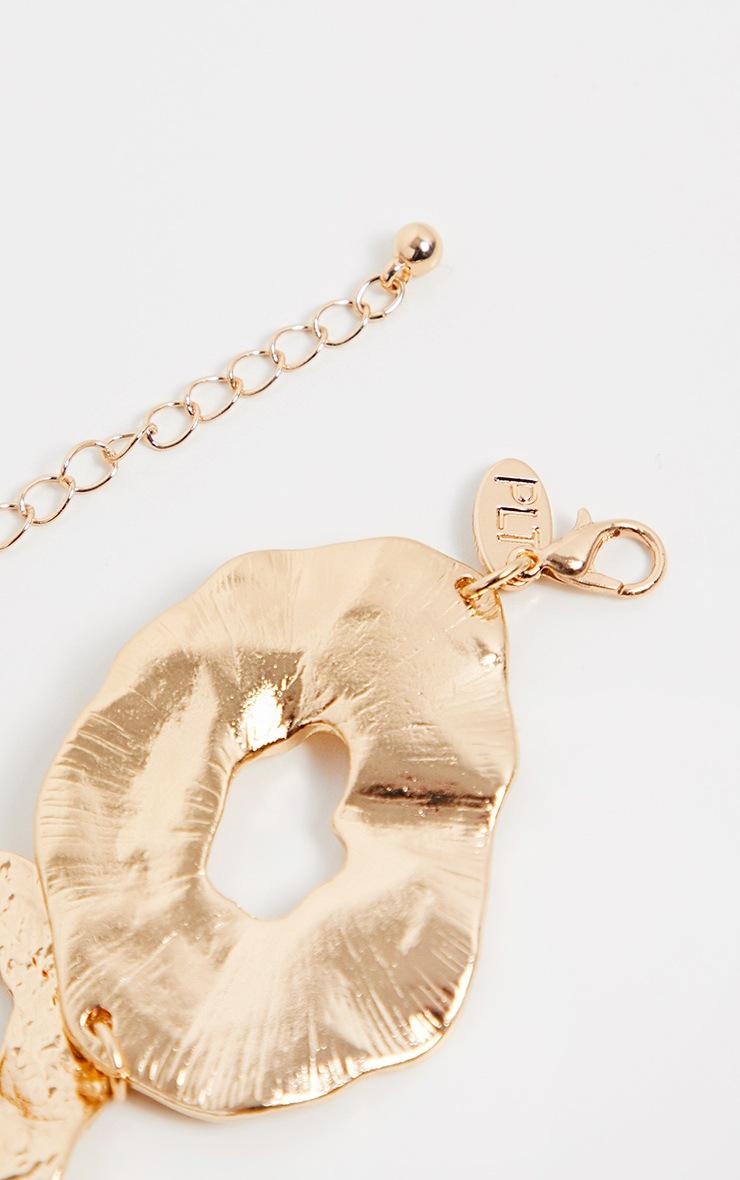 Gold Irregular Shape Necklace 3