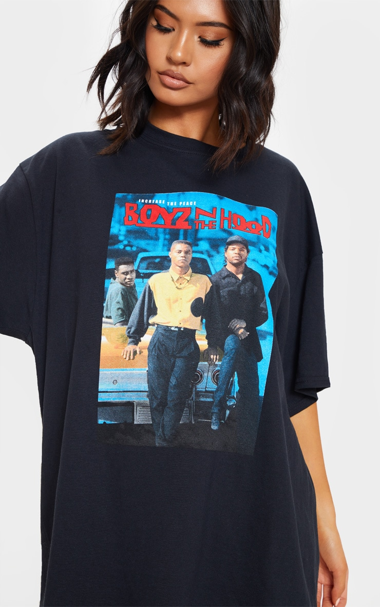 Black Boyz n the Hood Print Oversized T Shirt 5