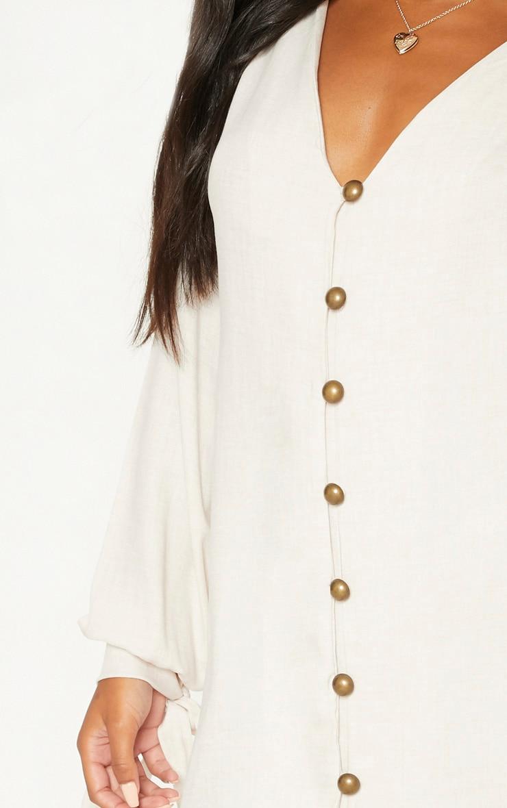 Stone Balloon Sleeve Shirt Dress 5