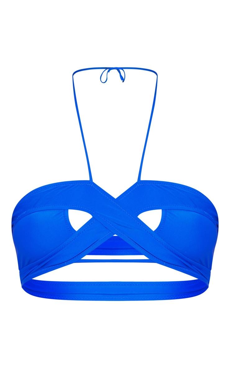Cobalt Cross Over Cut Out Bikini Top 3