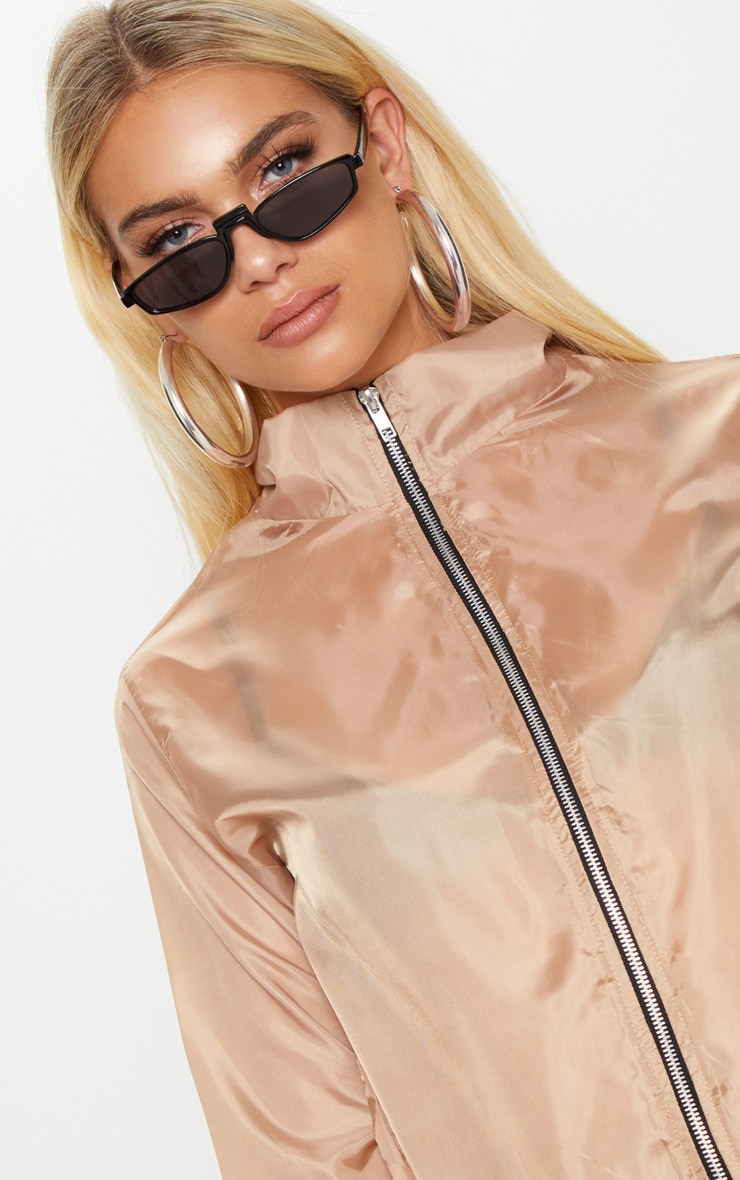 Dusty Pink Shell Zip Up Jacket 5