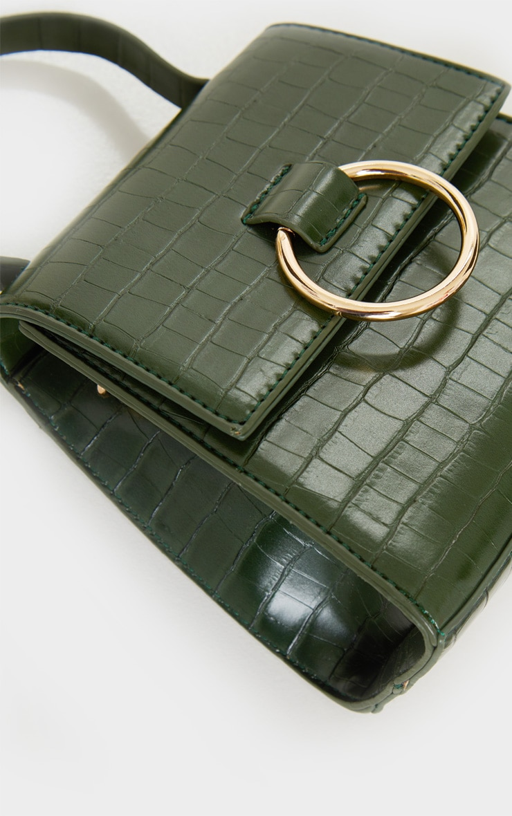 Forest Green Ring Detail Bag 4