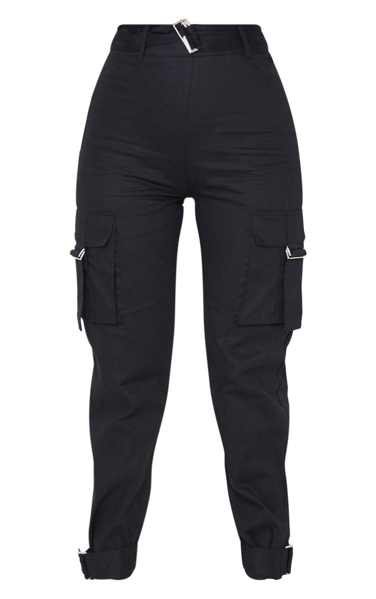 Black Cargo Trousers 3