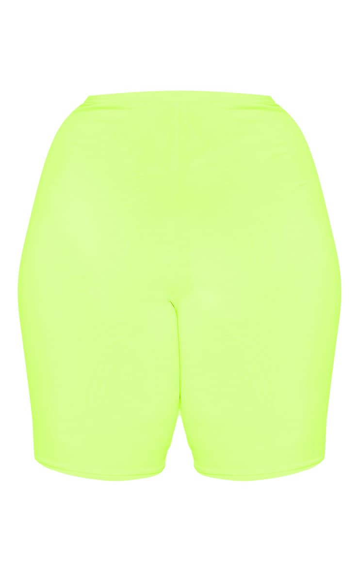 Plus Neon Lime Bike Shorts 4