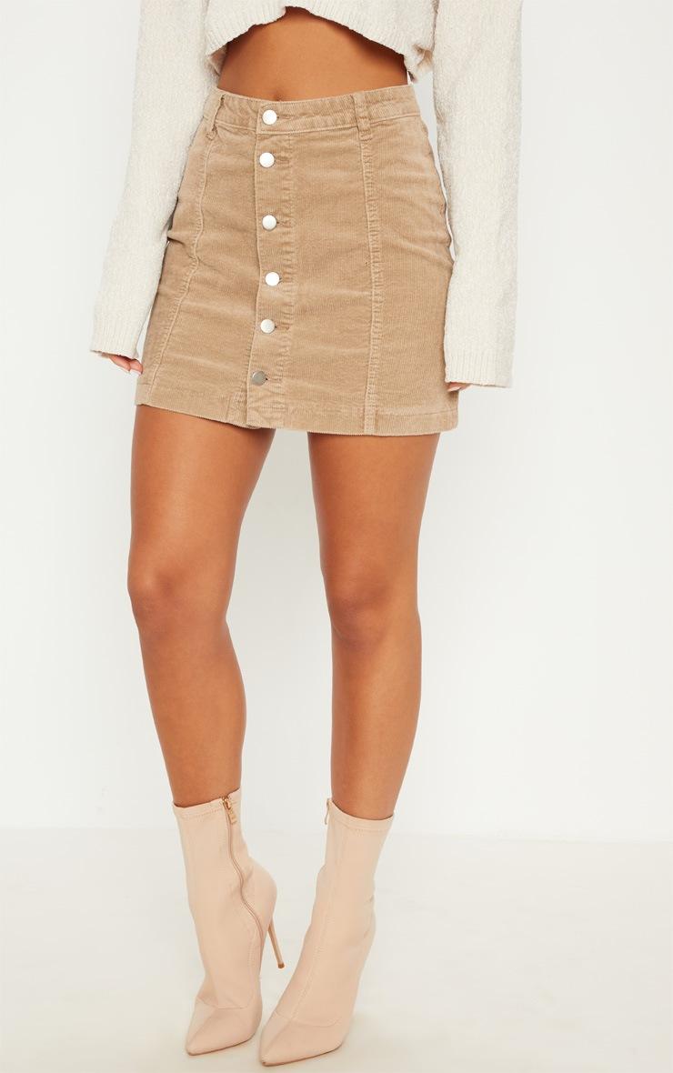 Stone Cord Cammie Button Through Skirt 2