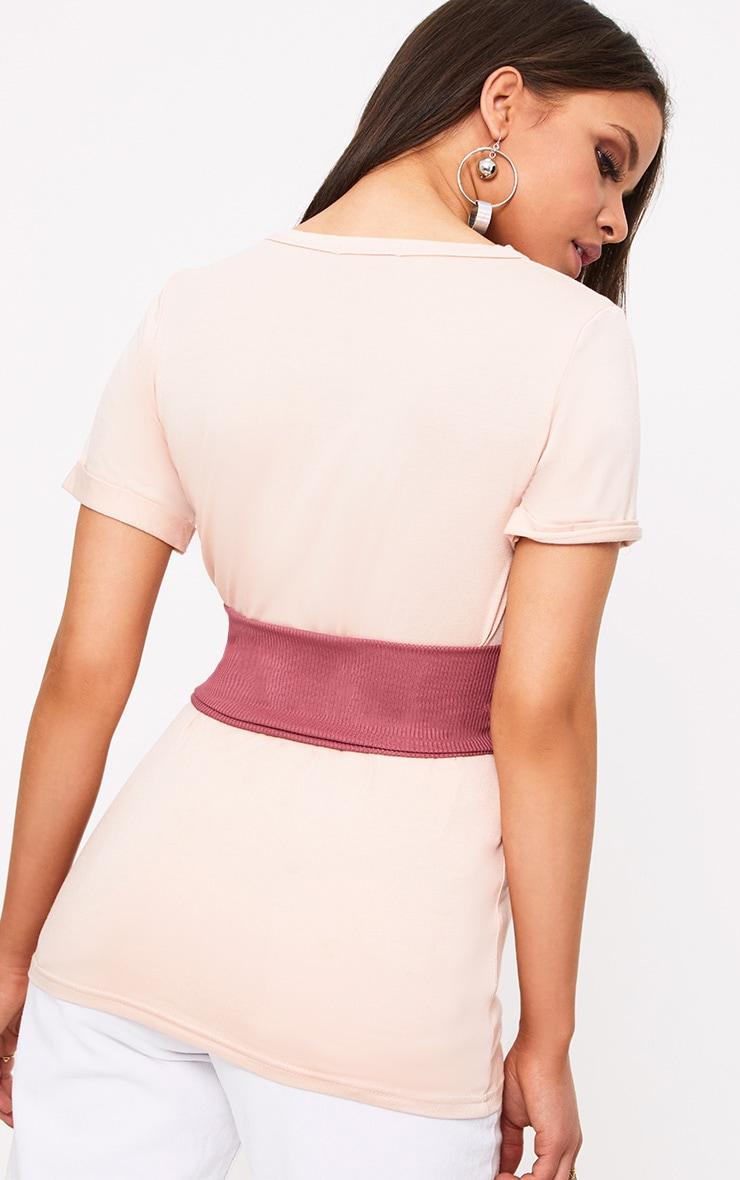 Petite Pink Jersey Corset T-Shirt 2