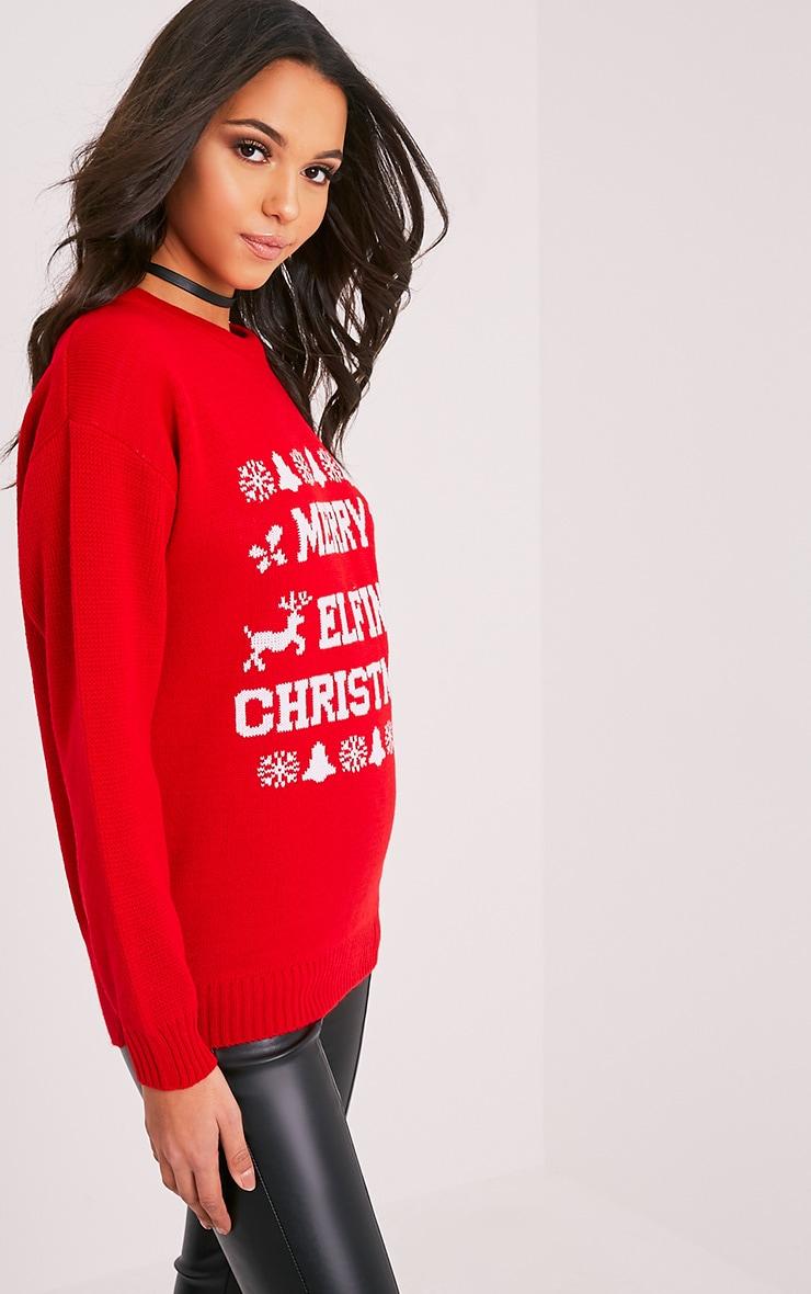Merry Elfin Christmas Jumper 4