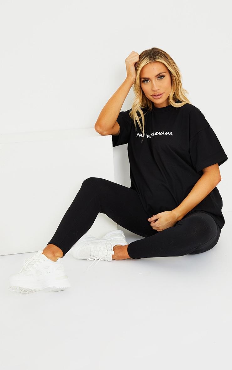 PRETTYLITTLEMAMA Maternity Black Oversized T Shirt 1