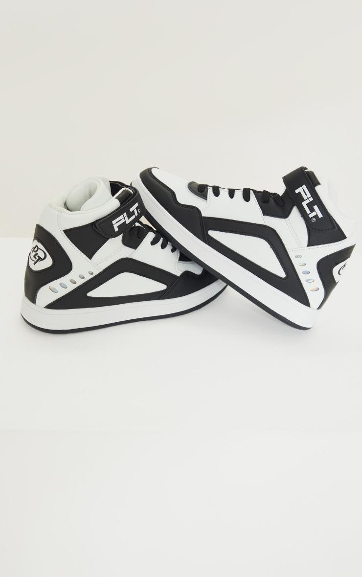 Black Strap High Top Sneakers 3