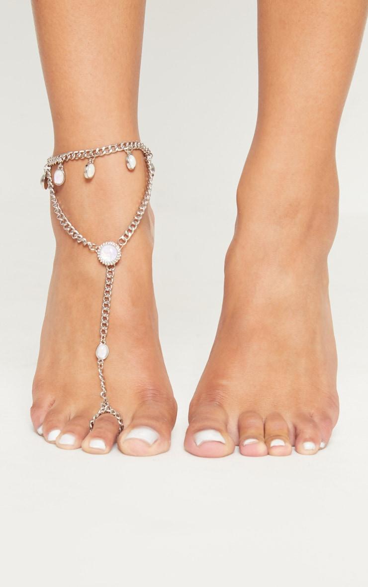 Silver Spiritual Gem Anklet 1
