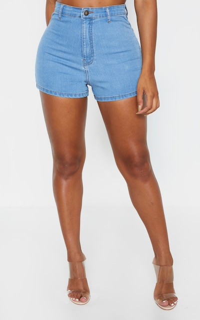 Shape Light Wash Disco Shorts