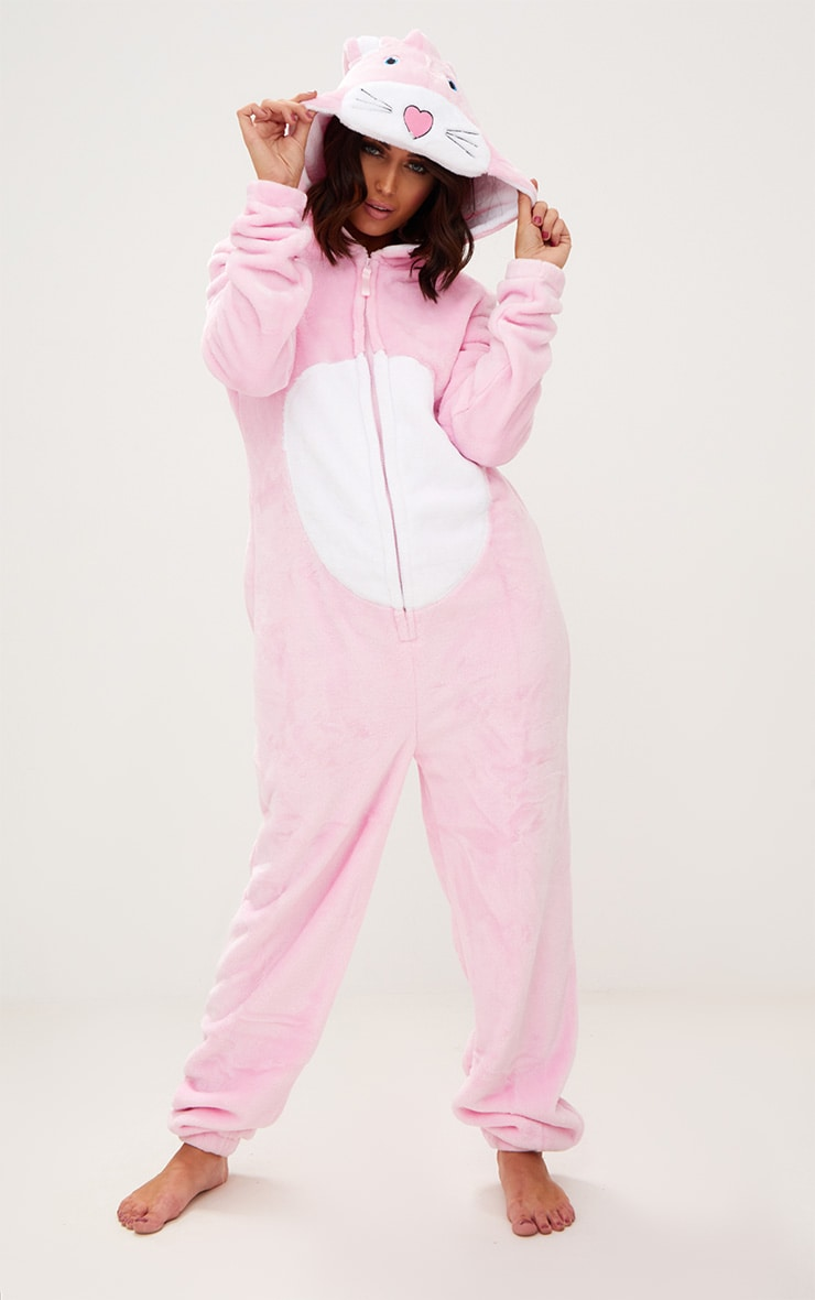 Pink Rabbit Onesie 1
