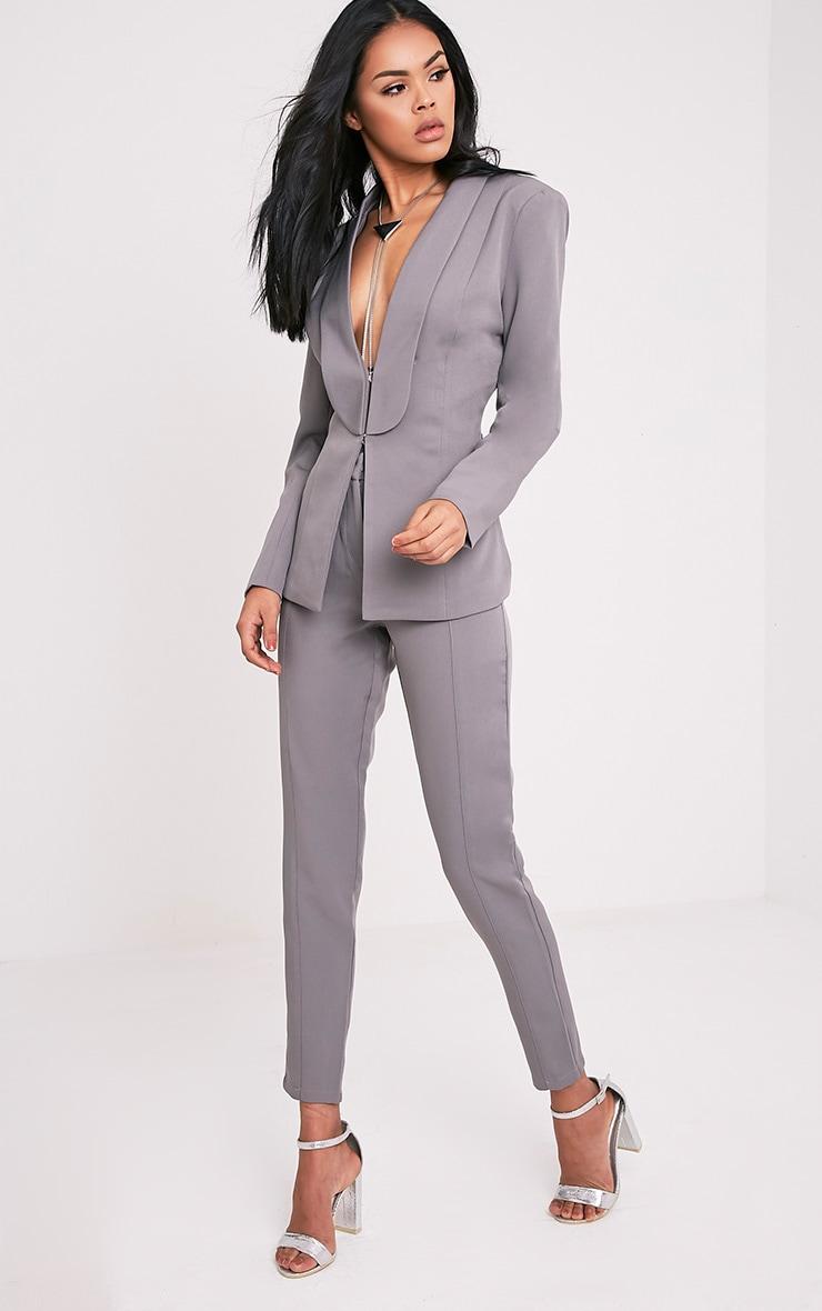 Avani Grey Suit Trousers 1