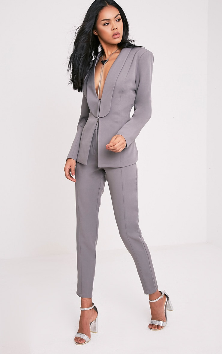Avani pantalon de tailleur gris 1