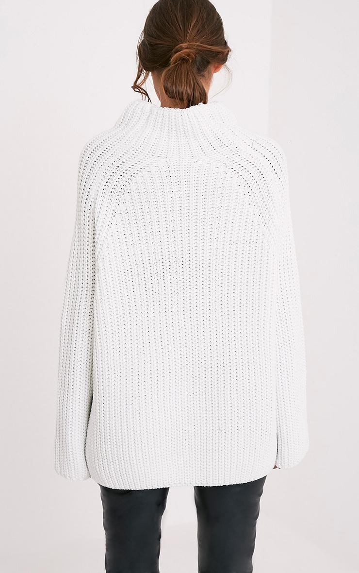 Rheana White Oversized Chunky Knit Jumper 2