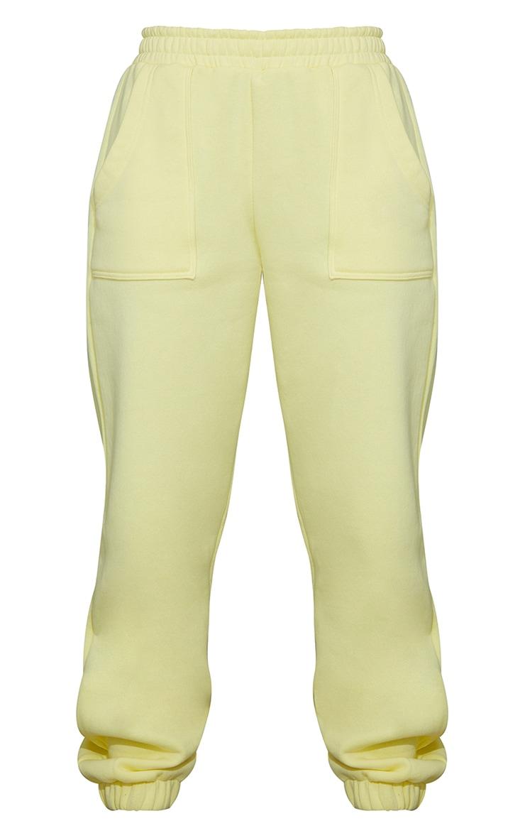 Yellow Pocket Cuffed Joggers 5