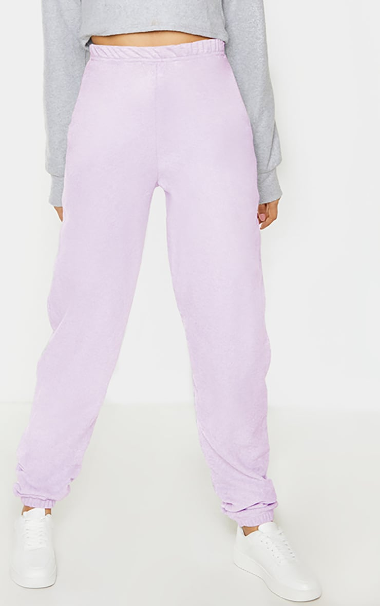 Tall Lilac Basic Cuffed Hem Joggers 2