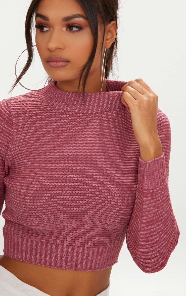Rose Cropped Knitted Jumper 5