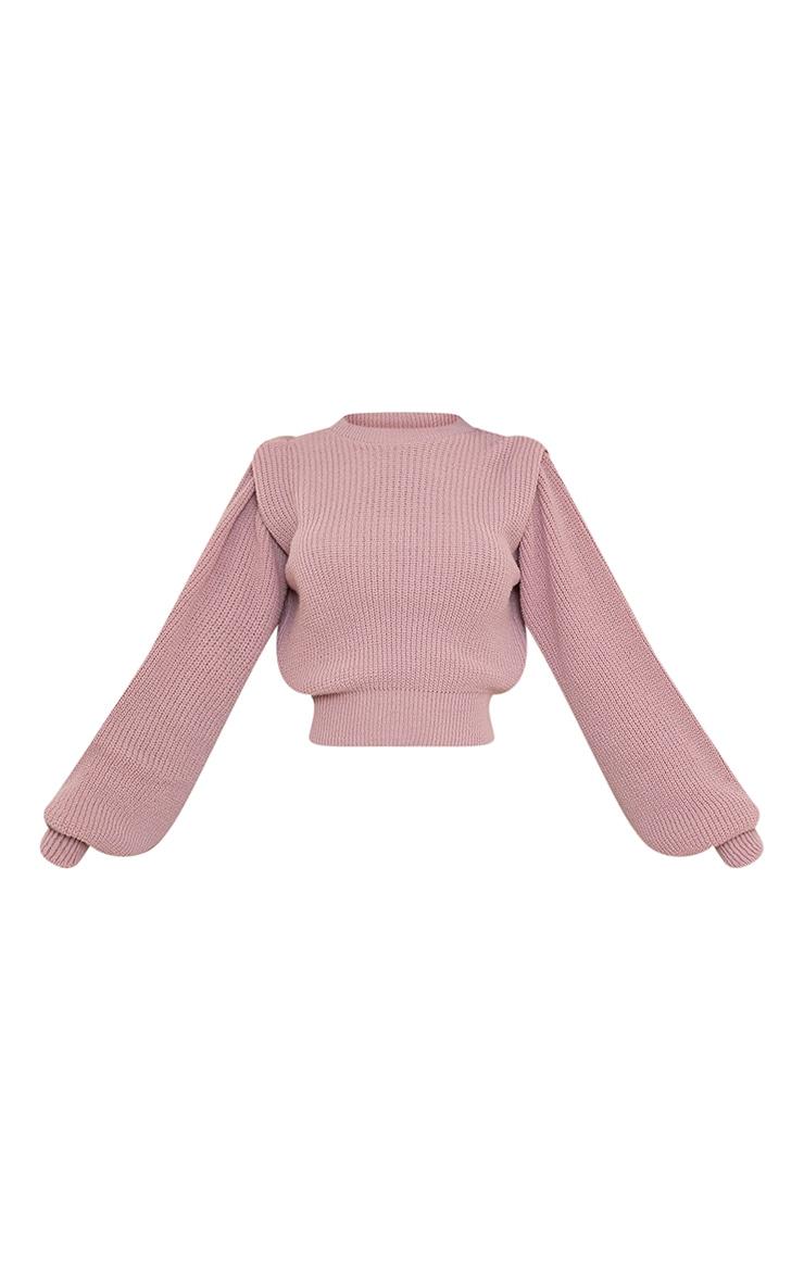 Blush Open Back Shoulder Detail Sweater 5