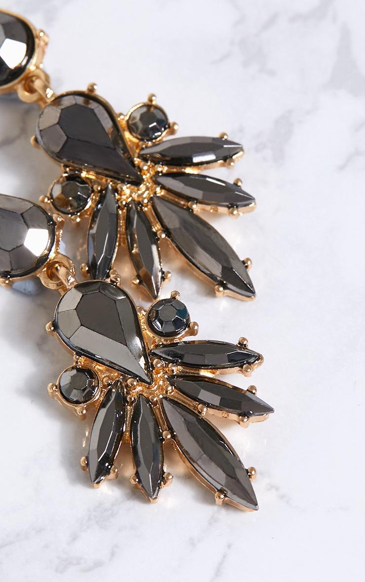 Grey Jewel Drop Earrings 4