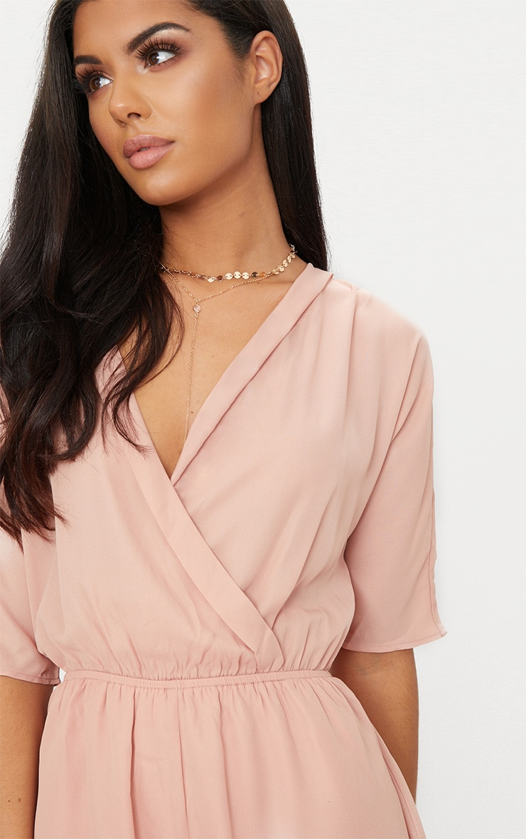 Bobby Nude Wrap Front Playsuit 5