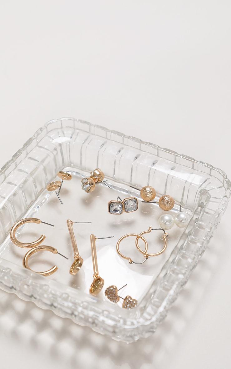 Gold Multi Hoop and Stud 9 Pack Earrings 1