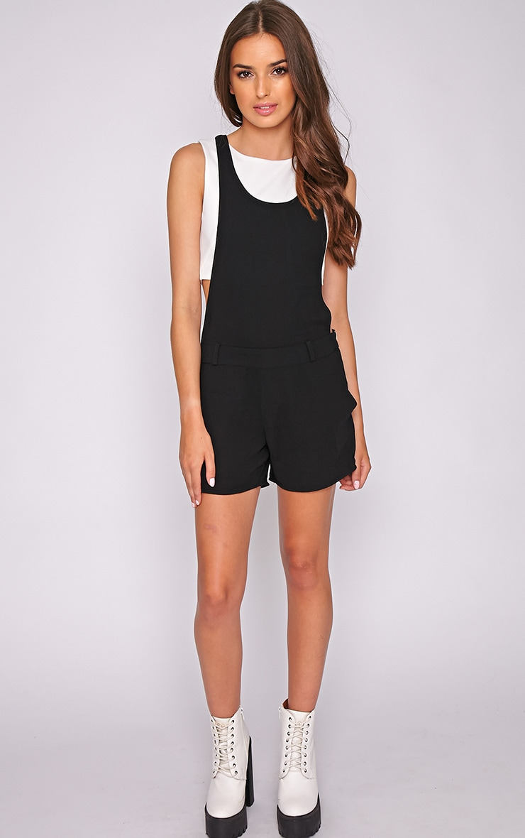 Willow Black Zip Detail Playsuit -L 5