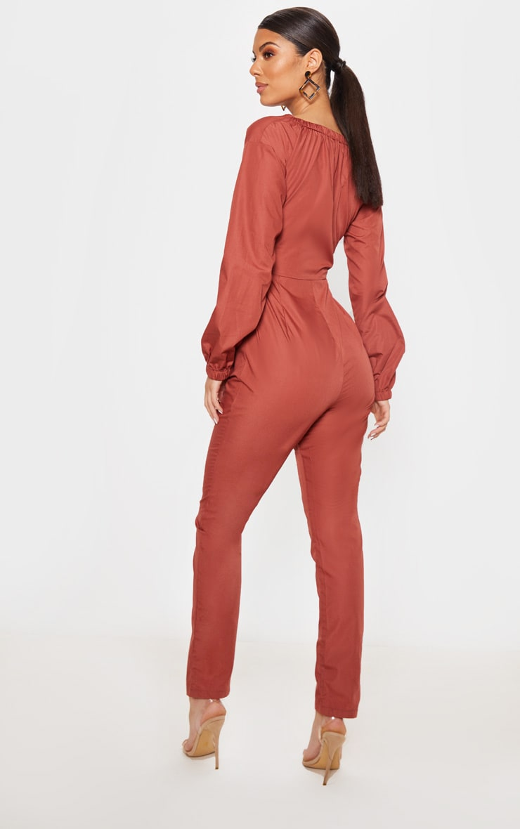 Brick Ring Detail Tie Waist Jumpsuit 2