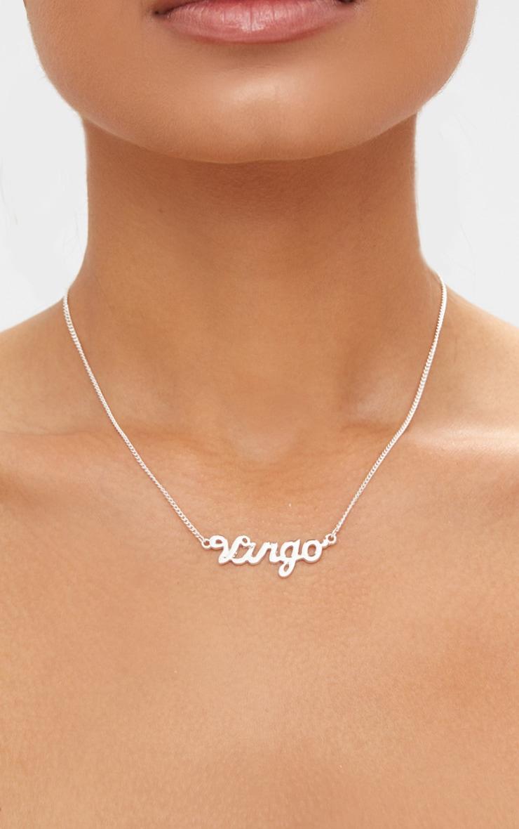 Virgo Zodiac Silver Necklace 1