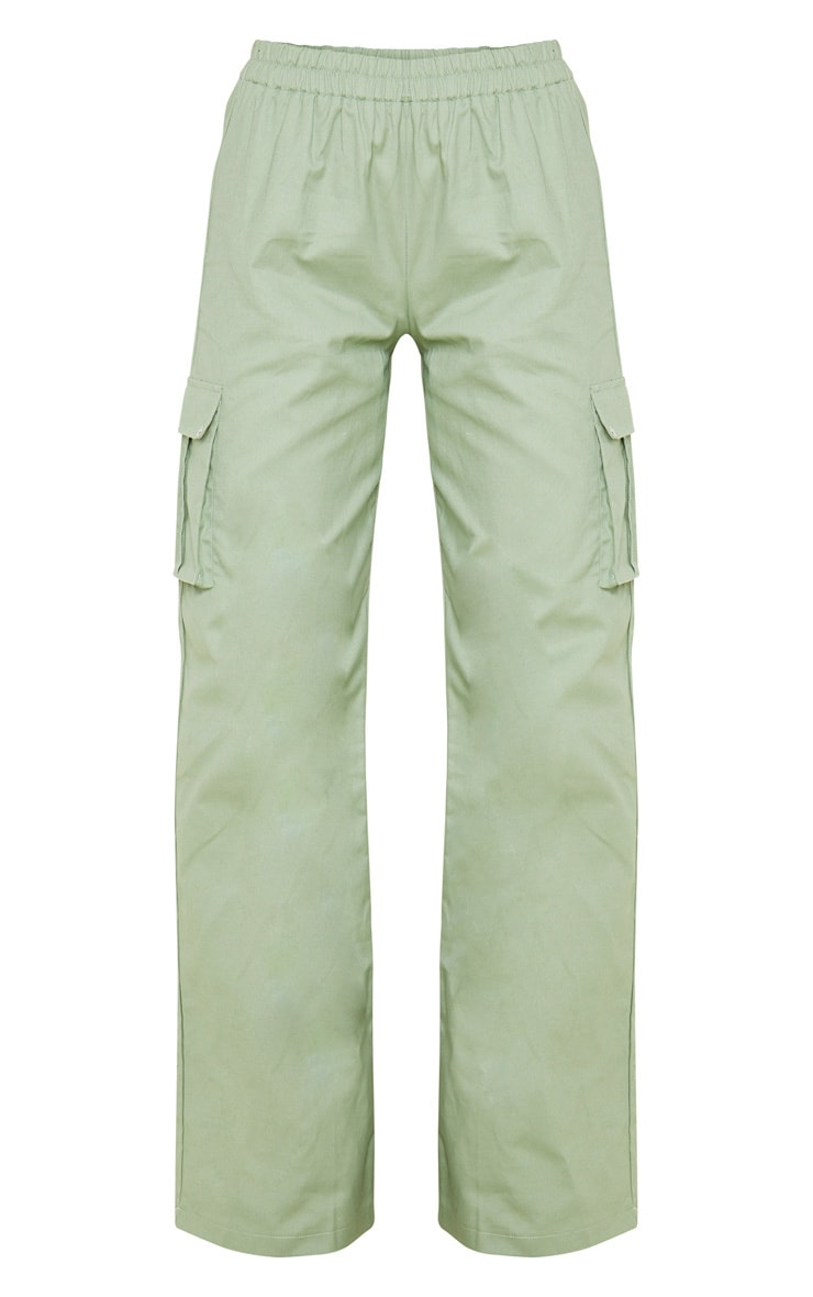 Sage Green Wide Leg Cargo Pants 3