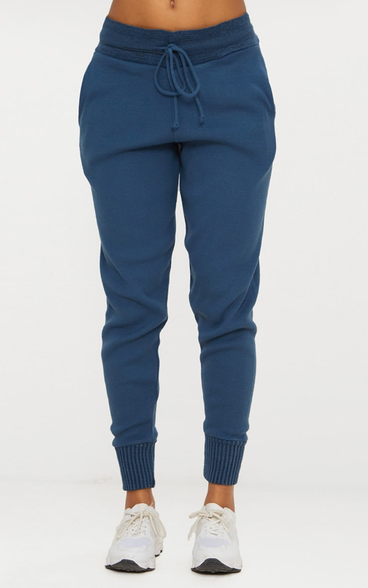 Charcoal Blue Jogger Knitted Lounge Set 6