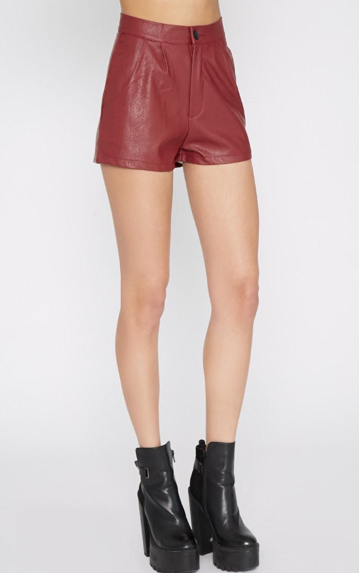 Misha Wine Leather Short 4