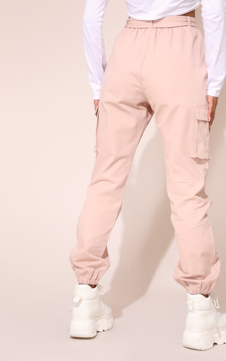 Nude Utility Buckle Belt Track Pants 5