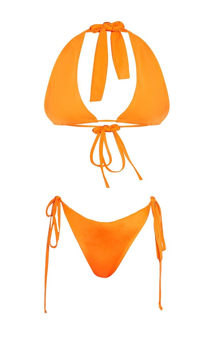 Petite Orange Halterneck Bikini Set 3