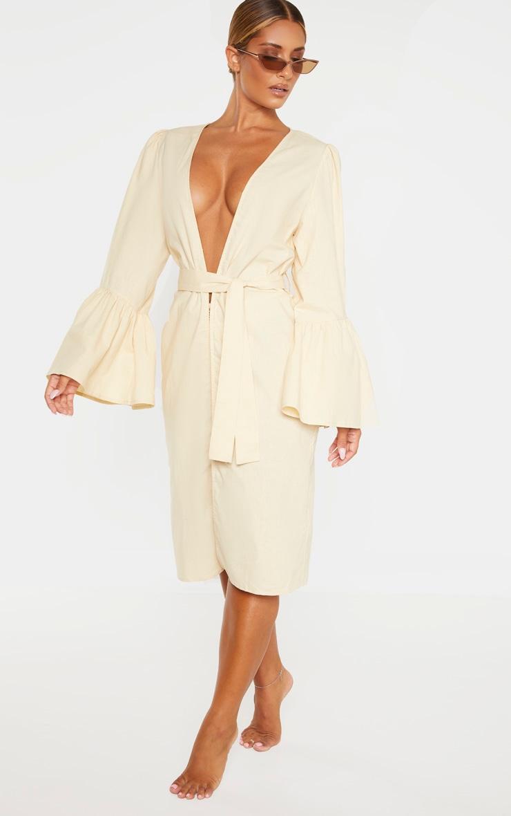 Nude Flare Sleeve Kimono 4