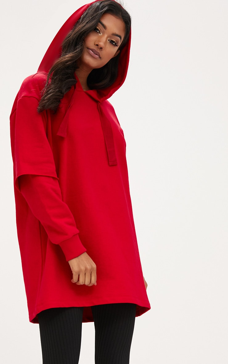 Red Oversized Sweater Hoodie image 1 c4248c388
