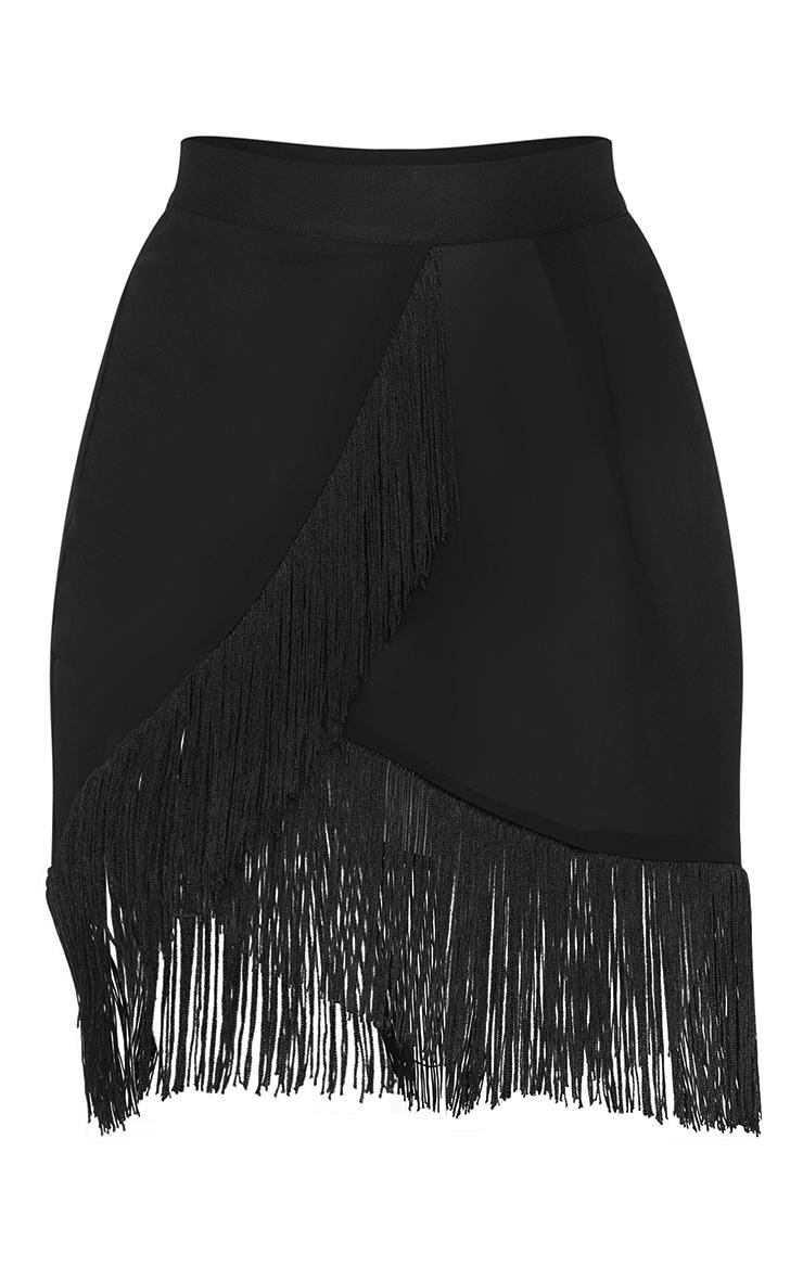 Black Tassel Beach Skirt 6