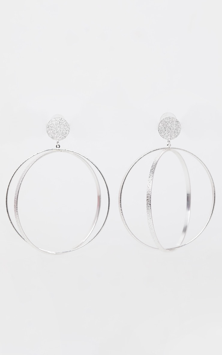 Silver Diamante Cage Drop Earrings 2
