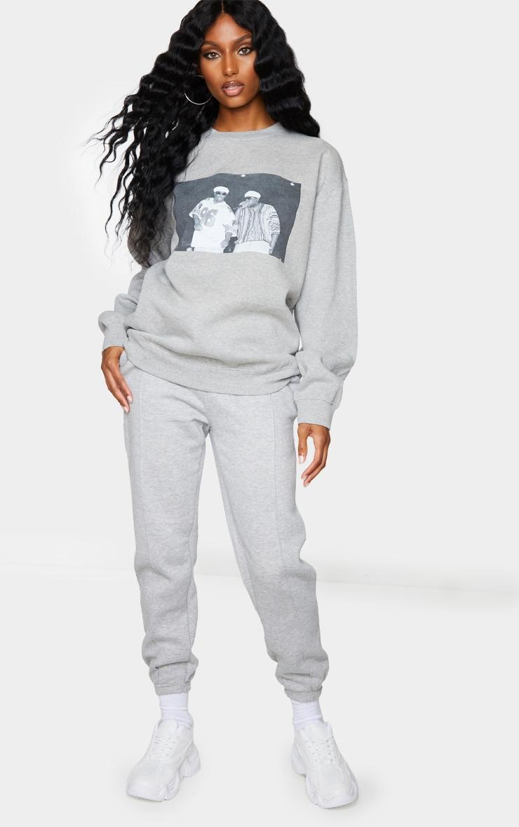 Grey Biggie 96 Print Oversized Sweater 3