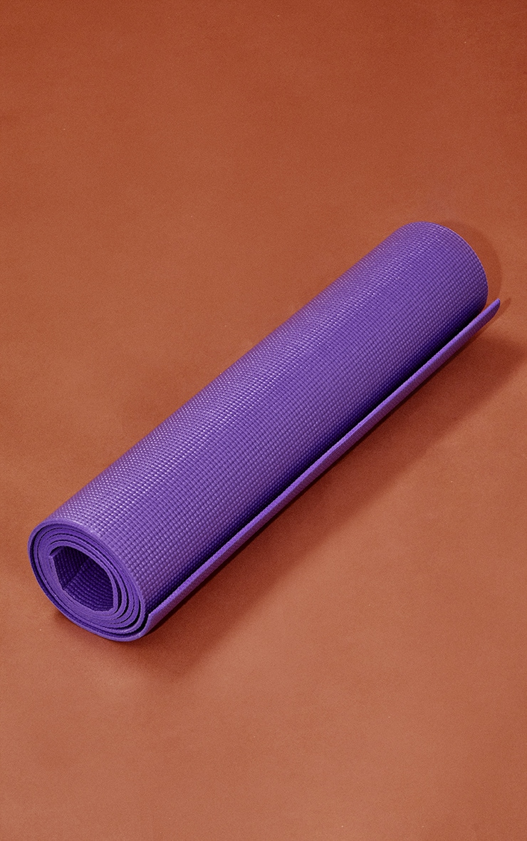 Purple Yoga Mat With Bag 4