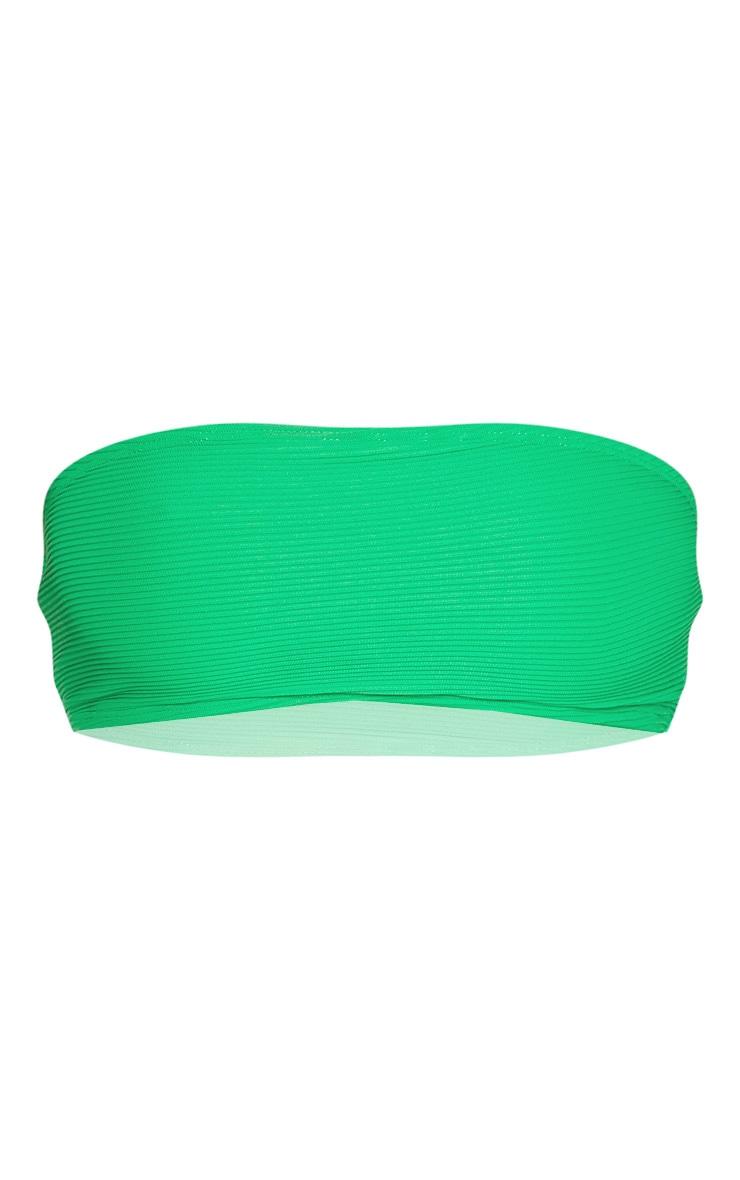 Green Ribbed V Front Bikini Bottom 5