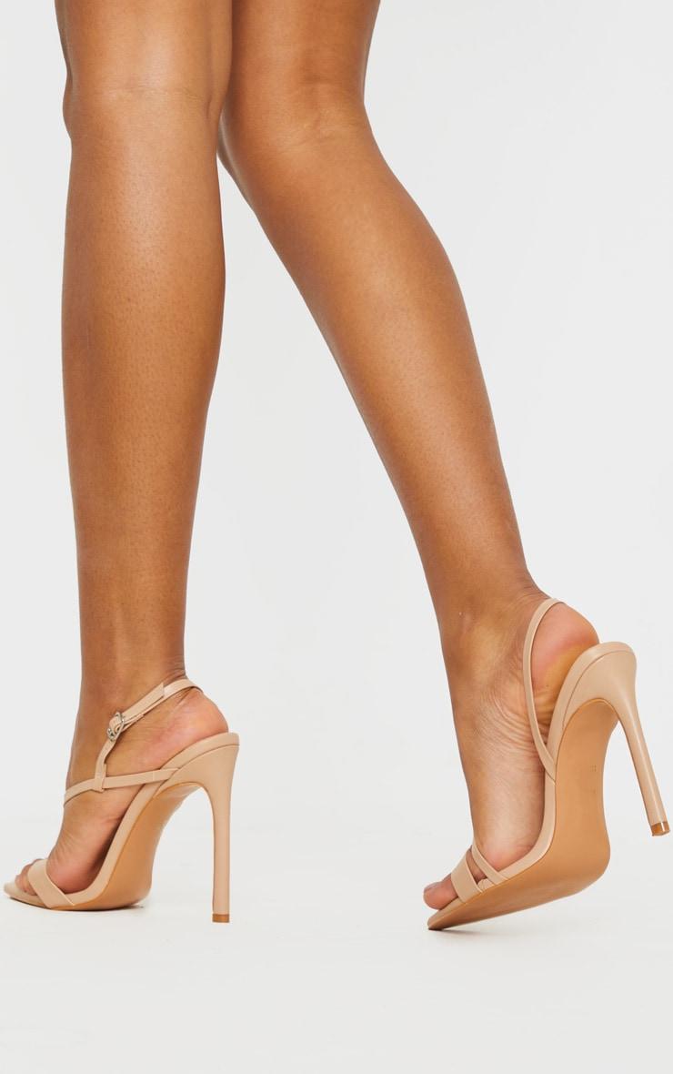 Sandales nude à brides asymétriques et bout pointu 2